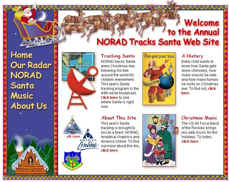 NORAD Tracks website